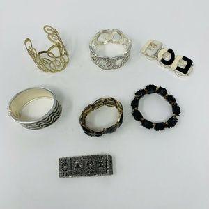 LOT OF 7 Costume Jewelry Bracelets Mixed Style